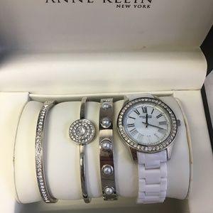 Anne Klein Womens Watch & Bracelet Set        323W